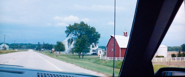 Barn with the sign on Sutliff Road